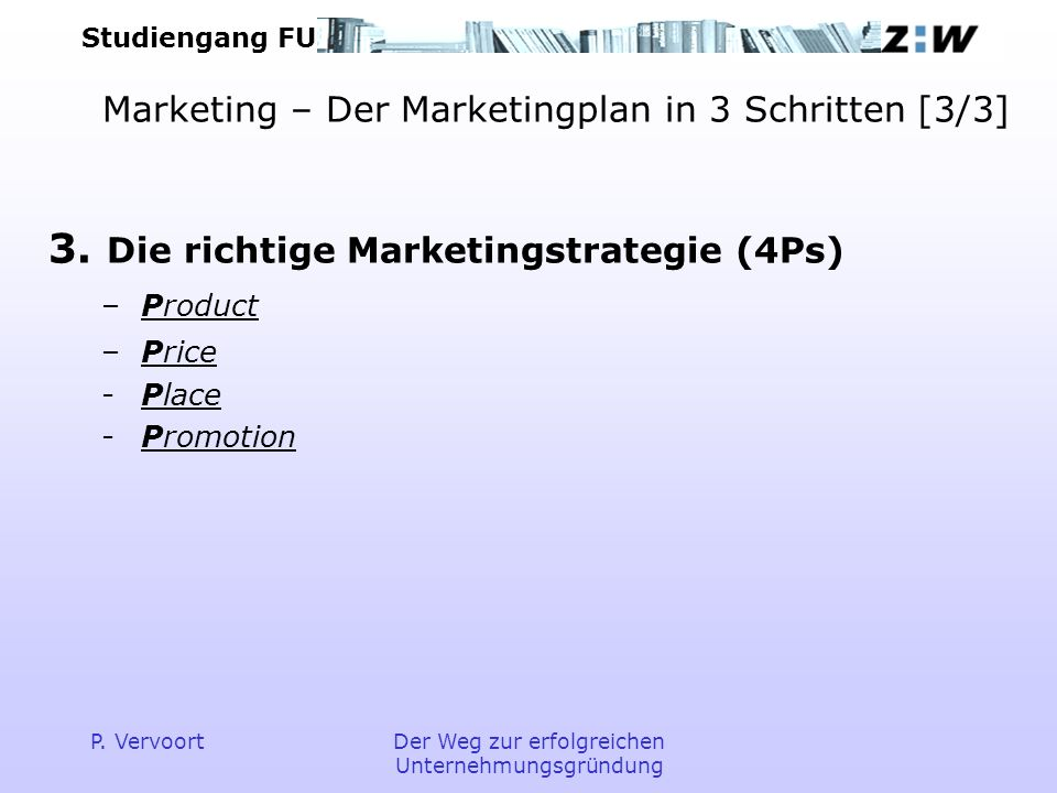 Marketing – Der Marketingplan in 3 Schritten [3/3]